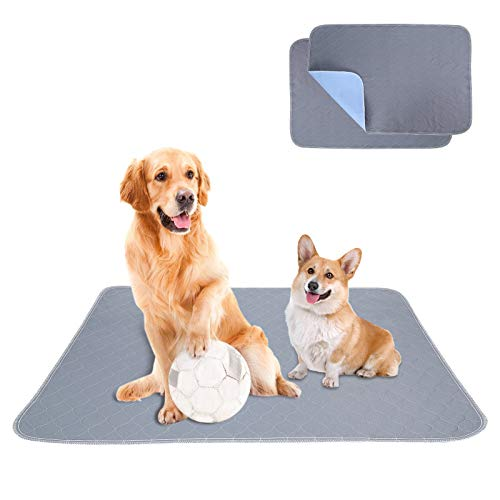 Puppy Dogs Training Pee Pads Washable - Waterproof Whelping Pads(2pack) with Super Absorbent, Great for Dog, Cat, Rabbit, Available for Indoor and Outdoor(18x24 Inches(Pack of 2))