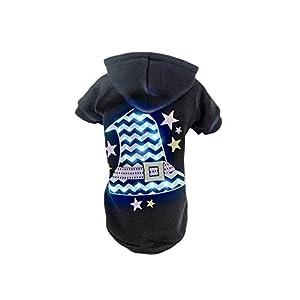 Pet Life LED Lighting Santas Magical Hat Sweater Pet Costume