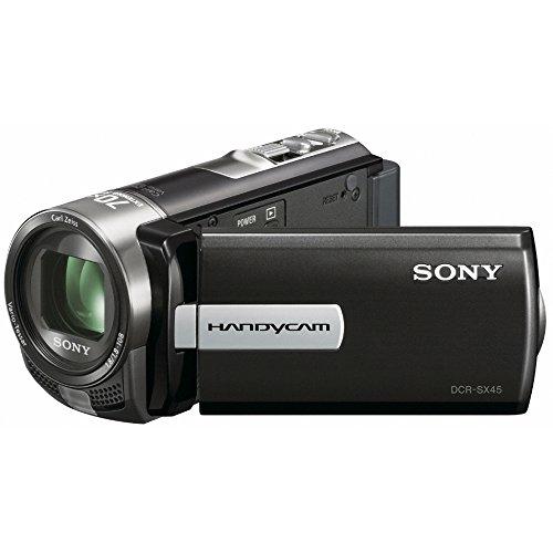 """Sony DCRSX45EB.CEN - Videocámara (pantalla de 3"""", zoom óptico 60x, zoom digital 2000x, estabilizador de imagen), color negro"""