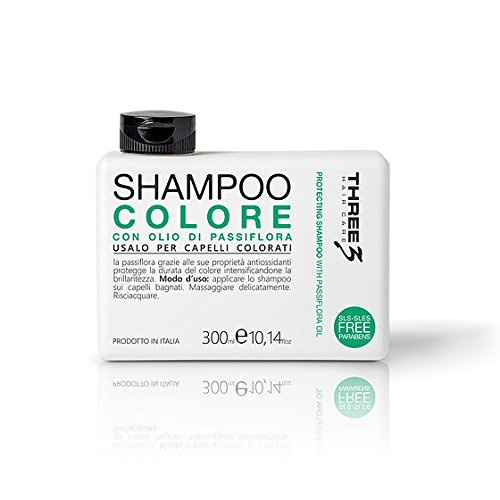FAIPA Three 3 Shampoing couleur huile passiflore cheveux colorés sans parabènes 300 ml