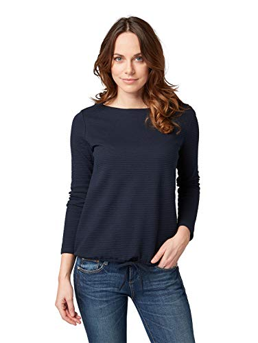 TOM TAILOR Damen 1007943 Sweatshirt, Blau (Sky Captain Blue 10668), Medium (Herstellergröße: M)