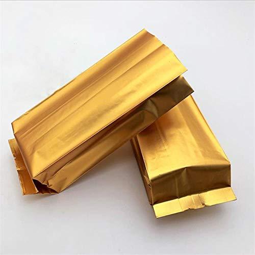 Coner 50 stks gouden vacuumsealer aluminiumfolie opbergtas koffie thee verpakking voedsel warmte afdichtingstas keuken benodigdheden, 7.5x3x15 cm