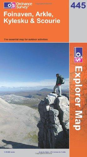 OS Explorer map 445 : Foinaven, Arkle, Kylesku & Scourie