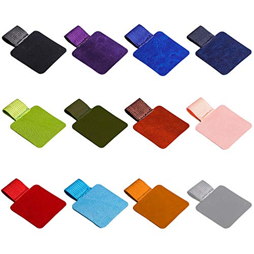 Ayaroun Pen Loop Holder, 12 Pieces Pen Loop Holder Adhesive with Elastic Band for Notebook Tablet Journal Planner Calendars, Assorted Colors