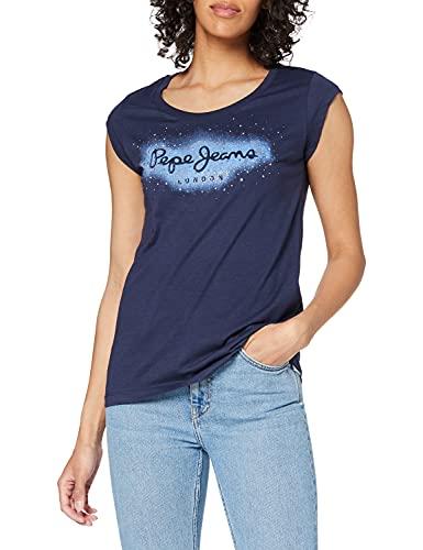 Pepe Jeans Camila Camiseta, Azul (583 temas), M para Mujer
