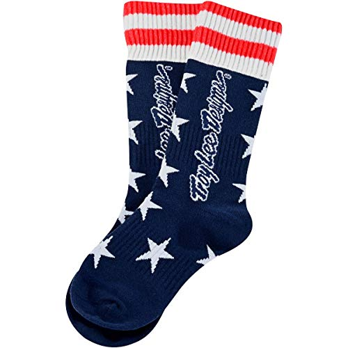 Troy Lee Designs GP MX Thick Youth Off-Road Motorcycle Socks - Liberty Navy/Black/Medium/Large 4-6