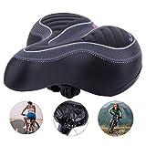 Cheekbonny Sillín de Bicicleta, Asiento de Bicicleta Gel, cómodo Asiento de Bicicleta Espuma de Memoria Cojín para Silla de Montar Acolchada para Bicicletas de Carretera/MTB/Bicicletas de Ciudad