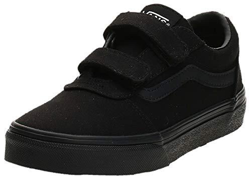Vans Unisex-Kinder YT Ward V Sneaker, Schwarz ((Canvas) Black/Black 186), 35 EU