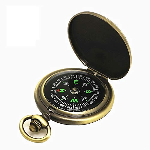 Retro Pocket Watch Compass Metal Flip Compass Outdoor Tools Leisure Hiking Adventure Camping Equipment Gifts