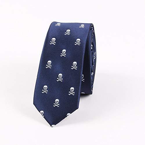 LLZGPZLD Tie/Ties Polyester 5Cm Skinny Necktie Ties Voor Heren Schedel & Fiets Hals Tie Tiecravat Geschenken