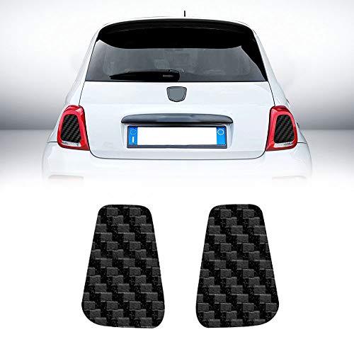 4R Quattroerre.it 17082 Adesivi Interno Fari Abarth e Fiat 500 Carbonio
