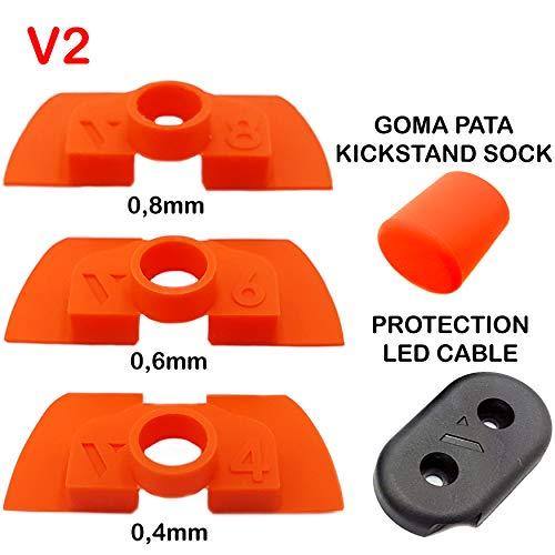 Amortiguador de Goma Flexible V2 Anti Holgura y Vibración Para Xiaomi Mijia M365 / Pro Scooter Eléctrico, Pieza Protección Led, M365 Accesorios, Patinete Electrico, Accesorios Xiaomi Mijia M367