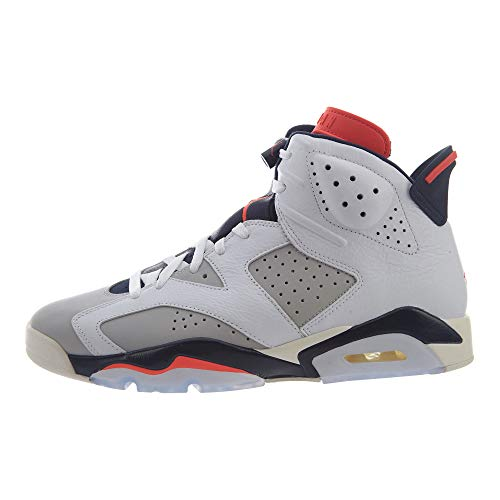 Nike Herren Air Jordan 6 Retro Fitnessschuhe, Mehrfarbig (White/Infrared 23/Neutral Grey/White 104), 47.5 EU