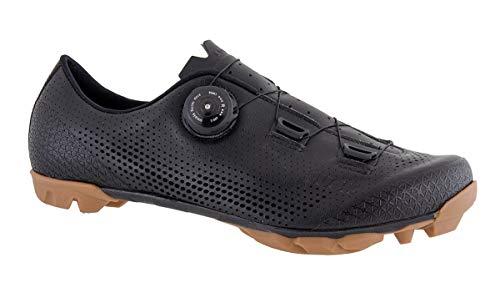 LUCK Limited   Zapatillas Ciclismo MTB Hombre Mujer Niños   Zapatos MTB Ciclismo Montaña BTT   Suela Carbono   Cierre Rotativo   Calzado Bicicleta MTB (Negro, Numeric_42)
