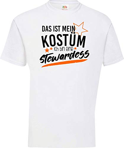 Shirtinstyle Camiseta T-Shirt Verkleidet als Aeromoza Disfraz De Carnaval Revestimiento muchos colores Kultshirt S-XXL - blanco, S