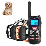 Havenfly Collar de Adiestramiento para Perros sin Descarga Eléctrica, Collar de Entrenamiento para Perros con Función de Vibración y Sonido, Remoto de 500m, Impermeable y Recargable (2 Perro)