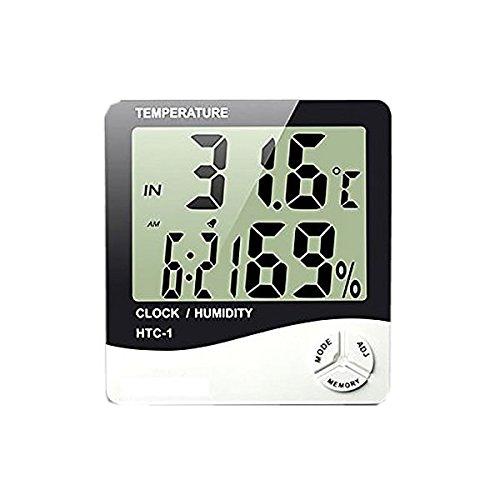 1stモール ファイブスター 温湿度計 卓上 マルチ 温度計 湿度計 時計 アラーム 5機能搭載 スタンド 壁掛け兼用 ST-FIVEMACHIN