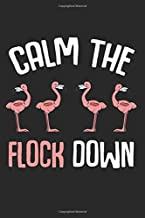 Calm The Flock Down: Cute Trendy Pink Flamingo Summer Hawaii State Beaches Tropical Birds Aloha Surfers Best Gift Ideas Composition College Notebook ... Pages of Ruled Lined & Blank Paper / 6
