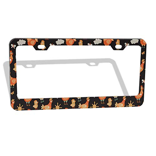 POUDBDH Car License Plate Frames Colorful Cats Kittens Blue for Men Women Metal Frames Funny Cars Plates