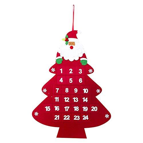 awhao-123 Christmas House Tree Calendario De Adviento para Niños, Cuenta Atrás Calendario Colgante De Pared Colgante De Adorno para Decoración Navideña Supple