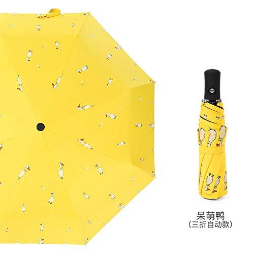 Deendeng automatische paraplu, opvouwbaar, cartoon-tekening, paraplu, vinyl, automatisch, compact