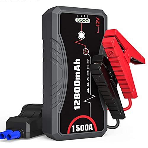 Fuente de alimentación de Arranque de Emergencia para automóvil 12V Encendedor de automóvil eléctrico móvil Fuente de alimentación de iluminación de automóvil 18000mAh Tesoro
