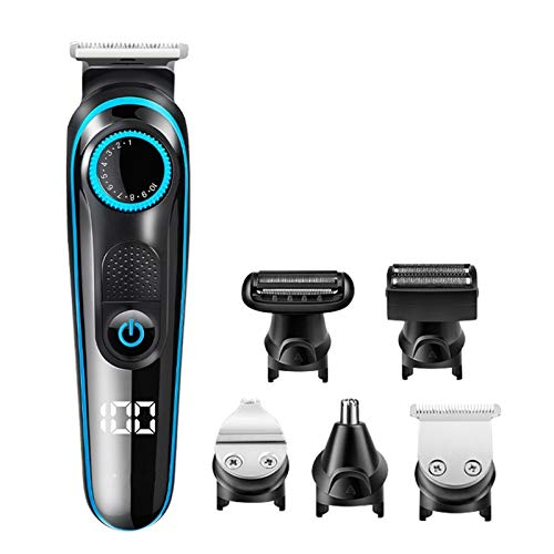 YFQHDD Eléctrica Recargable de Las podadoras de Pelo de bajo Ruido Pelo Trimmer Corte del Pelo de la Barba de la máquina de Afeitar Trimer Hombres Peluquería Afeitar el Pelo