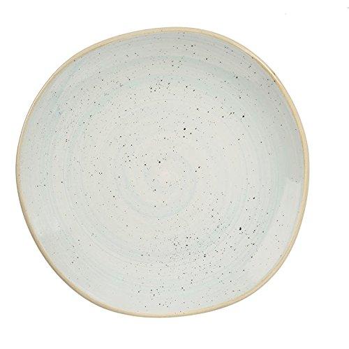 Churchill Stonecast Duck Egg Lot de 12 assiettes rondes faites à la main 26,4 cm