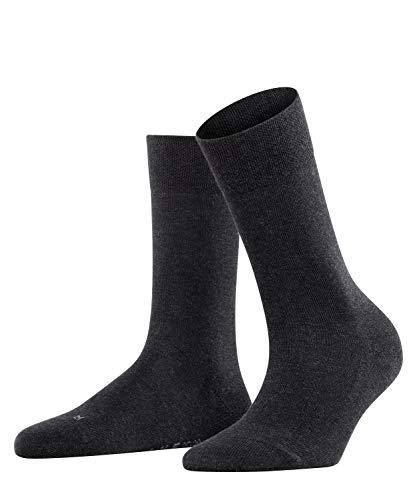 FALKE Damen Socken Sensitive London - 94prozent Baumwolle, 1 Paar, Grau (Anthracite Melange 3089), Größe: 35-38