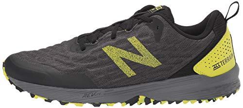 New Balance Men's Nitrel V3 Trail Running Shoe, Black/Yellow, 11 D US 8