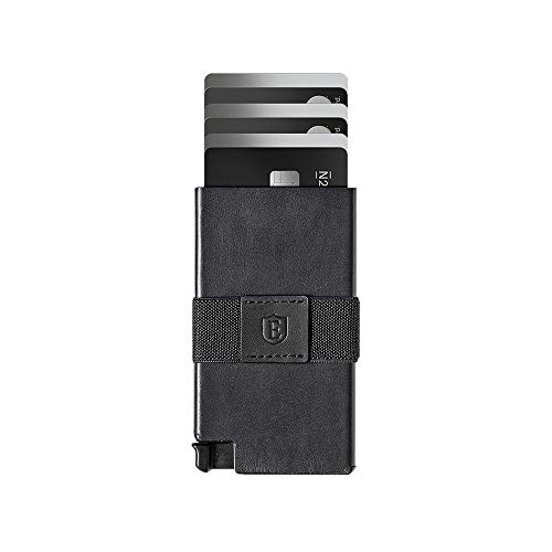 Ekster: Senate - Leather Card Holder Wallet - RFID Blocking - Quick Card Access (Nappa Black)