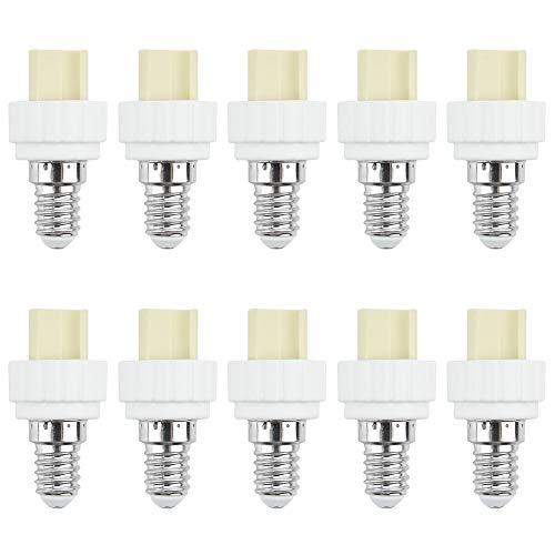 Bonlux Lampensockel E14 Fassung auf G9 Leuchtmittel Sockel Konverter Adapter für LED Lampe Halogenlampe CFL Glühlampe Keramik Keramik Material - Extender / Halter (Paket von 10 Stück )