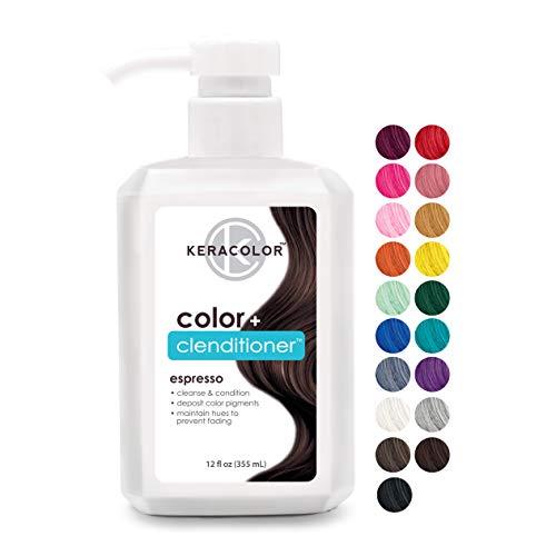 KERACOLOR Clenditioner ESPRESSO Hair Dye - Semi Permanent Hair Color Depositing Conditioner, Cruelty-free, 12 Fl Oz