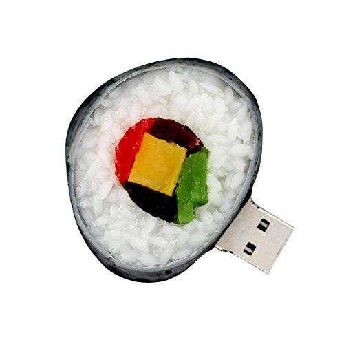 Almacenamiento Externo de Unidades Flash USB en Forma de Sushi para PC/Tabletas/Televisores/Consolas de Juegos/Sistemas de Audio - Negro-32gb