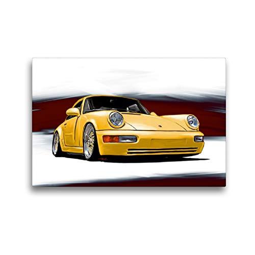 CALVENDO Premium Textil-Leinwand 45 x 30 cm Quer-Format Porsche 911/964, Leinwanddruck von Reinhold FineArt
