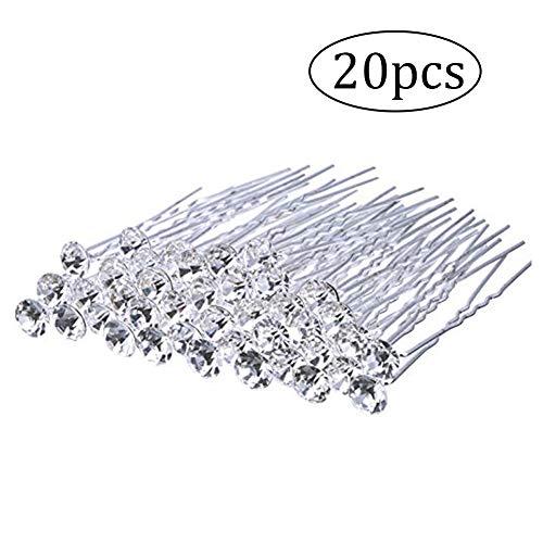 AAGOOD 20 Packs Bride Cheveux Pins Cheveux Clip Clip Accessary pour Les Femmes et Les Filles