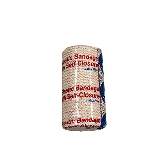 "Dynarex elastic bandage with self closure strip, 10 count/2 x 5 yards 3 easy to use, fast to apply necessary compression with one hand bandage has 1"" self closure start strip and 2"" self closure strip strong enough for laundering and repeated use"