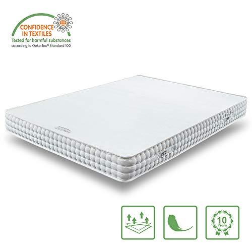 BedStory Orthopädische 7-Zonen Kaltschaum Matratze, Premium 90x200x18cm Kaltschaummatratze in Weiß, 2 Härtegrade(H2 & H3) in Einer Matratze ergonomisch für alle Schlaftypen