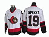 Gmjay Jason Spezza # 19 Eishockeytrikot Ottawa Senators Hockey White Stitched Letters Numbers NHL Eishockeytrikot -