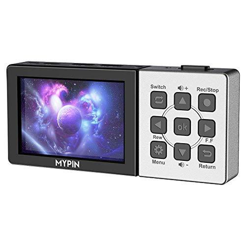 MYPIN Game Capture Boîtier d'Acquisition Video HD 1080p HDMI Enregistreur YPBPR pour Xbox 360 et One / PS3 PS4 / Nintendo Switch/Nintendo Wii U etc (Enregistrement Indépendant)
