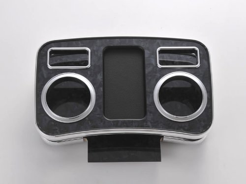 【黒木目】ハイグレード ドリンクホルダー フロント用 ハイエース 200 系(H16/8-) DYPユアパーツオリジナルテーブル