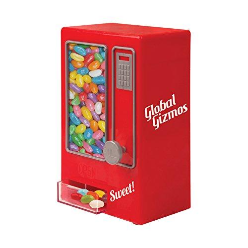Global Gizmos Retro Style Sweet Automaten - Máquina para hacer deporte (16 x 14 x 30 cm, no requiere pilas), color rojo