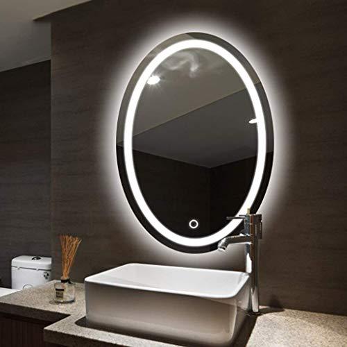 DERUKK-TY Espejo para el hogar y maquillaje grande moderno negro círculo marco espejo de pared panel de vidrio vanidad dormitorio o baño colgante (horizontal/vertiacl) 50,9 x 71,8 cm (color: A)