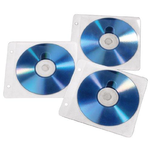 Hama CD ROM /DVD ROM Ringbuch Hüllen für je zwei CDs 50er Pack weiß