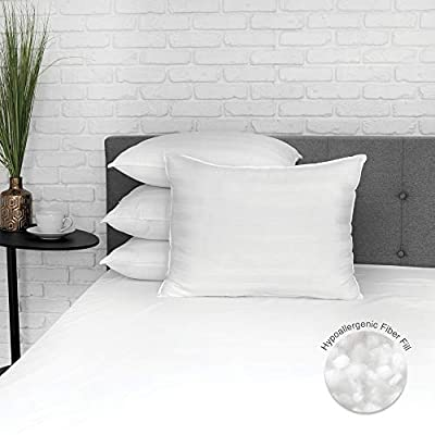 BioPedic Eco-Classic 250-Thread Count Standard, 4-Pack PIllows, White