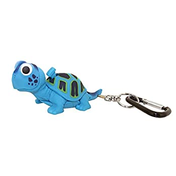 Sun Company WildLight Animal Carabiner Flashlight   Mini Animal Keychain Flash Lights   for Kids Nurses Camping  Blue Turtle