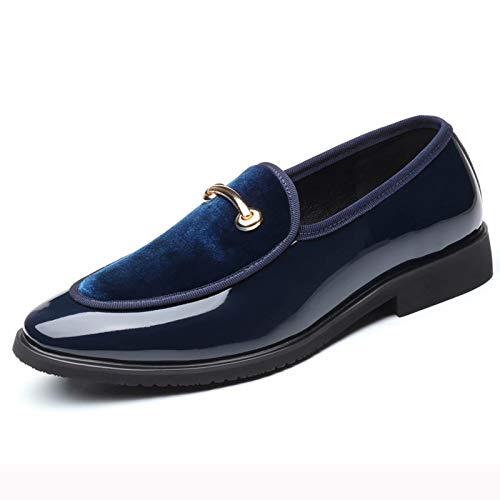 JRY Mocasines para Hombre - Zapatos de conducción con borlas de Estilo británico Otoño Invierno Calzado sin Cordones en Punta para Bodas
