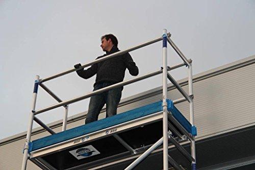 ASC Alu-Rollgerüst Profi 75-200 von 4,30 m bis 14,30 m Arbeitshöhe, 1,90 m Plattform, DIN-EN 1004 & 1298, TÜV/GS (6,30 m)