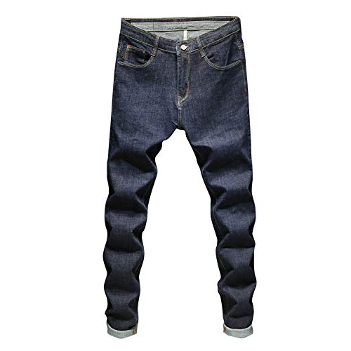 Pantalones Vaqueros para Hombre Moda Simple y versátil Cintura Media Cómodo Estiramiento Clásico Regular...