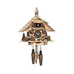 Engstler Quartz Cuckoo Clock Black Forest House with Music